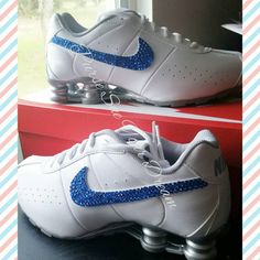 71e5878e7c36 Custom Crystal Rhinestone Nike Shox by PurseSueYourDream on Etsy Sparkle  Shoes