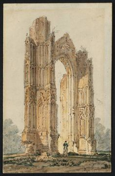 Part of the Ruins of Walsingham Priory, 1797 - Thomas Girtin Antony Gormley Sculptures, Building Sketch, Art Database, Classical Art, Pictures To Paint, Art Sketchbook, Great Artists, Medieval, Fine Art