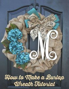How to Make a Gorgeous Burlap Wreath. Transform your fall home with a rustic burlap wreath. A step by step DIY tutorial and video show you how to make to welcome guests.