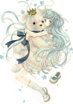 anime art girl Illustration miku