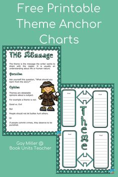 Check out these ideas for teaching theme including free printables. Great for upper elementary and middle school students. Theme Anchor Charts, Lion And The Mouse, Reading Themes, Context Clues, Literature Books, Student Teaching, Greatest Songs, Human Nature, Reading Skills