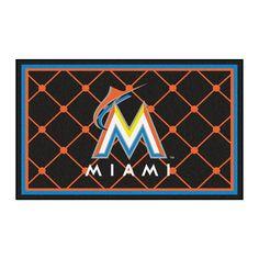 Miami Marlins Rug 4x6