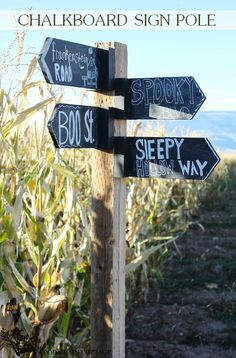 Chalkboard Sign Pole by The Wood Grain Cottage