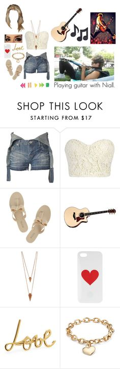 """""""Playing guitar with Niall."""" by miriam-xxiv-vii-mm ❤ liked on Polyvore featuring New Look, Michael Kors, Music Notes, Jules Smith, Lanvin and Blue Nile"""
