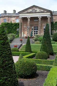 18th century Hillsborough Castle Gardens, Northern Ireland, UK.. It is the residence of the Secretary of State for Northern Ireland and the official residence in NI of HM Queen Elizabeth II and members of the royal family when they visit the region