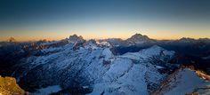 Mountain Landscape: Conca Ampezzana al tramonto d'inverno