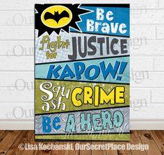PRINTABLE Superhero Art Supehero Words Superhero by OurSecretPlace, $14.99