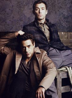 Jude Law and Robert Downey Jr. <3
