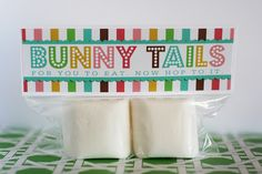 Bunny Tails - Easter printable