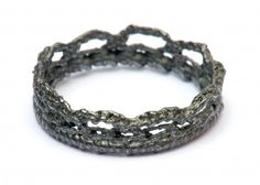 OXIDISED SILVER CROWN RING, by Ebba Goring
