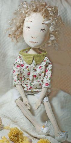 Handmade+Art+Dolls | Dorothy handmade textile art doll
