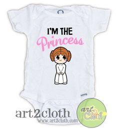 STAR WARS Cute Princess Leia Baby Onesie