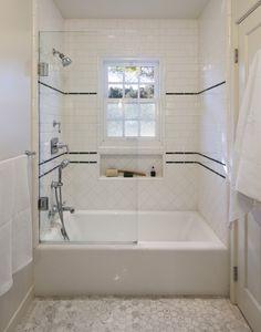 Classic 1930's tile work for shower - traditional - bathroom - santa barbara - Elizabeth Vallino Interiors