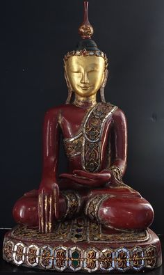 20th Century Hollow Lacquer Burmese Buddha statueBuddhaMore Pins Like This At FOSTERGINGER @ Pinterest