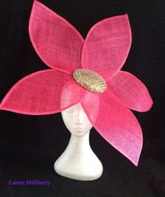 Fascinator by Emms Millinery Facinator Hats, Sinamay Hats, Fascinator Headband, Fascinators, Headpieces, Fuchsia Flower, Ascot Hats, Hats For Women, Ladies Hats