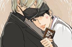 Fanart, Jikook, Fanfic Namjin, Otp, Manga Poses, Angel Of Death, Bts Fans, Love Is, Worldwide Handsome