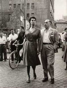 Sopfia Loren and Carlo Ponti.