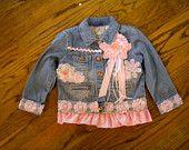 Shabby Chic Embellished Jean Jacket