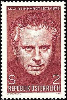Max Reinhardt auf österreichischer Briefmarke von 1973