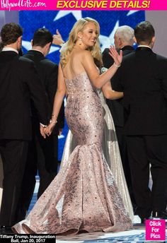 Simin Couture designed Tiffany Trump's Metallic Pink Inaugural Ball Gown: Exclusive Details Simin Couture