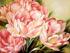 живопись - натюрморт, купить картину Тюльпаны.худ.А.Джанильятти(278)