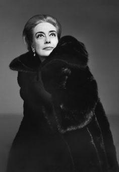 """Joan Crawford ~ in BLACKGLAMA Mink ~ """"What Becomes A Legend Most?"""" Ad Campaign by (1969). ~Repinned Via John Myers Mink"""
