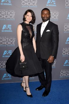 Pin for Later: Let's Face It, Award Season Was All About British People This Year David and Jessica Oyelowo at the Critics' Choice Awards