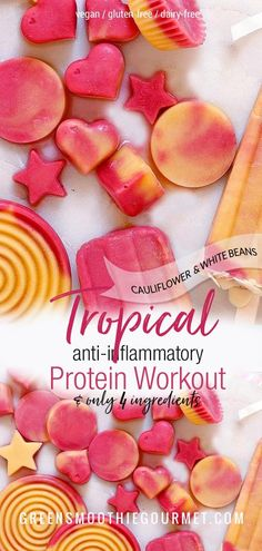 fiber fruits Tropical Protein Cauliflower Snacks Tropical protein cauliflower snacks are a frosty treat, perfect for grabbing after a sweaty workout. High in protein and fiber, fruit-swee Healthy Vegan Desserts, Healthy Summer Recipes, Vegan Dessert Recipes, Dairy Free Recipes, Whole Food Recipes, Vegan Treats, Fall Recipes, Vegan Food, Holiday Recipes