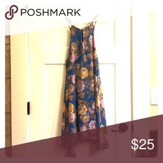 Altar'd State Blue Flora Dress Only worn once, no tears or marks, basically brand new Altar'd State Dresses Midi
