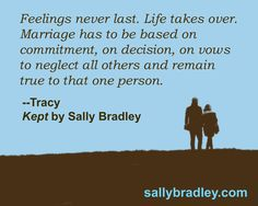 A quote from Kept--Tracy Coleman