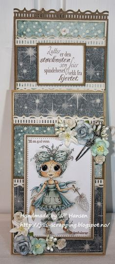 """Jills Scrappeside: MY BESTIES CARD - DT KREATIV SCRAPPING - TEXT: """"LATTER..."""" is from NORTH STAR STAMPS"""