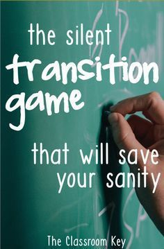 The Silent Transition Game that will Save Your Sanity - try this when you need a minute to get ready for your next lesson, a great trick for elementary teachers