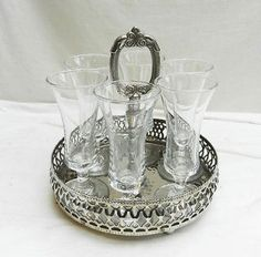 vintage silver plated tray - Google Search