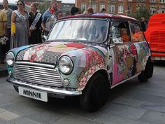 Fabric covered Mini! - Art Car Parade Manchester by markydeedroppics, via Flickr