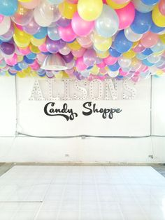 Here's how to make a balloon ceiling for your next shindig.
