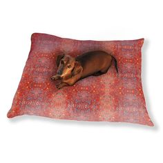 Uneekee Stained Red Dog Pillow Luxury Dog / Cat Pet Bed