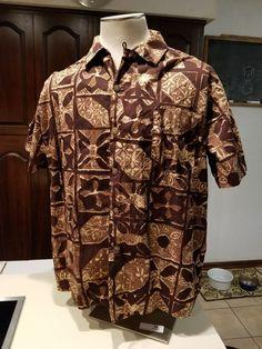 fe5396b9 Mens vintage Hawaiian Alfred Shaheens of Honolulu 1950's brown cotton shirt  XL #fashion #clothing