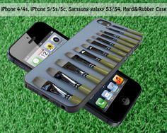 Paint Brushes for iPhone 4 / 4S iPhone 5S iPhone 5C by FASTYCorner, $13.00