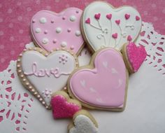 Heart Sugar Cookies by LaurasCreativeCookie on Etsy