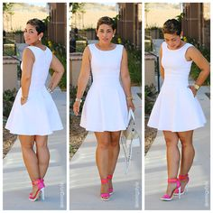#TBT DIY White Pique Dress + Pattern Review - Mimi G Style