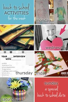A week of back to school activities