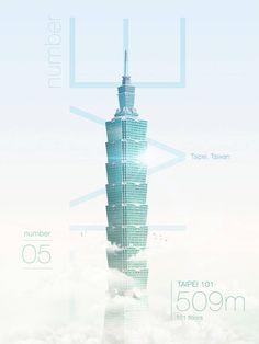Taipei 101, 509m, 101 floors