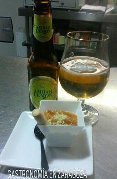 Tapa de Callos acompañado con Cerveza Ambar Lemon En el Bar-Restaurante El Candelas  Calle Maestro Mingote,3 Zaragoza