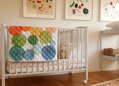 Water colour quilt & vegetable themed nursery - that is Farm & Pretty!