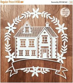 40% SALE SVG / PDF Family Home Garland Design Papercutting
