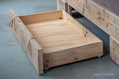 Bedroom Storage Ideas For Clothes, Bedroom Storage For Small Rooms, Under Bed Storage, Diy Storage, Storage Hacks, Space Furniture, How To Make Bed, Bed Design, Bed Frames