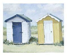 Toile sur châssis BEACH BOATS, multicolore - 80*60