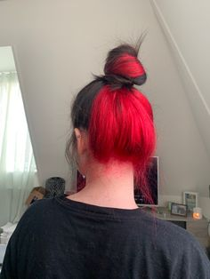 I DYED MY HAIR RED UNDERNEATH
