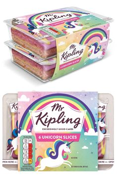 Oh my days! I NEED these Unicorn Cake Slices in my life!!
