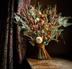 Rusty autumnal wedding bouquet with eucalyptus available for postage worldwide perfect for elopements. Scottish Flowers, Second Weddings, Flower Farm, Bridal Flowers, Wedding Bouquets, Daisy, Wreaths, Florals, Fall
